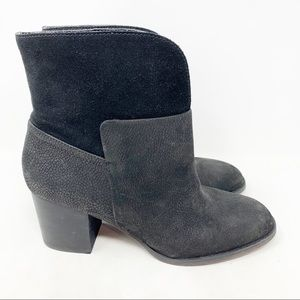 Nine West Dale pebbled leather suede boots